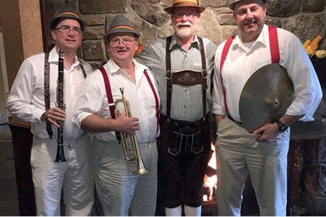 Oktoberfest with the Schnitzel Brothers Log Cabin